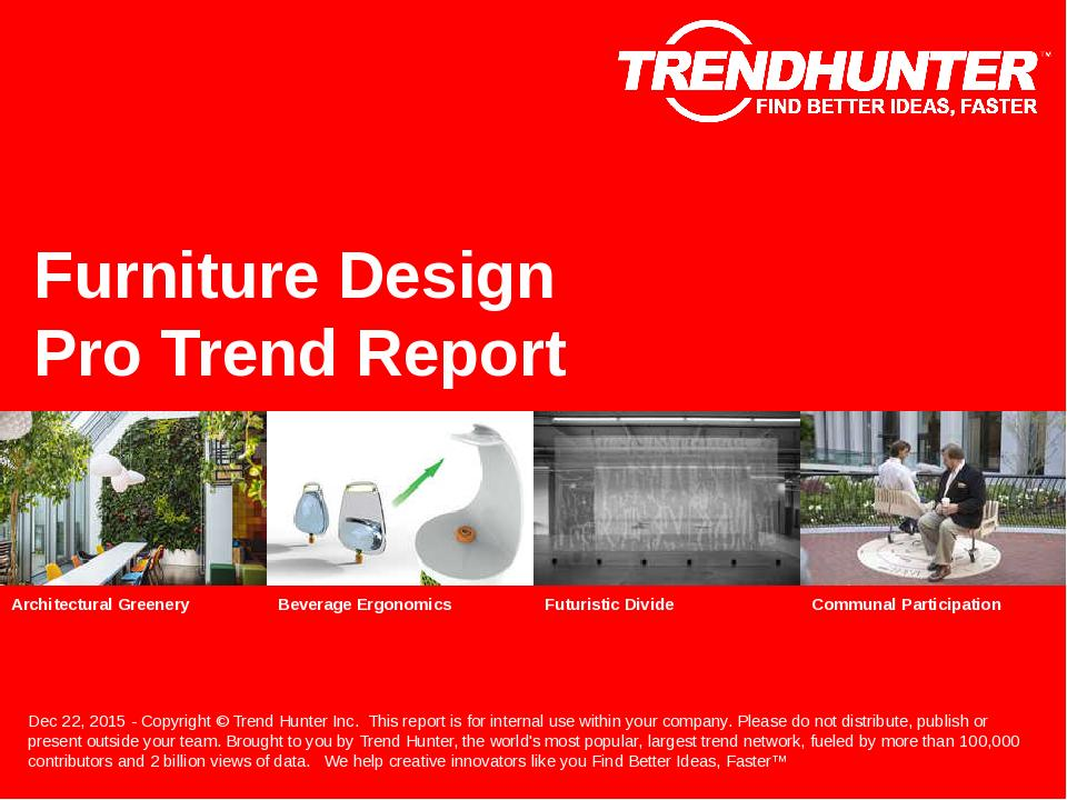 Furniture Design Trend Report Research