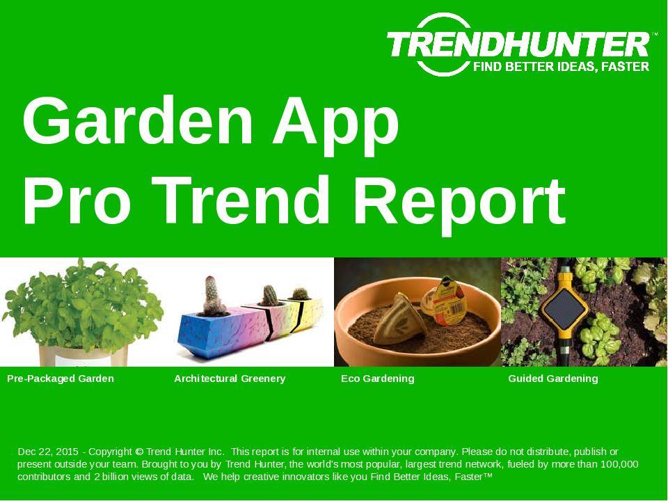 Garden App Trend Report Research