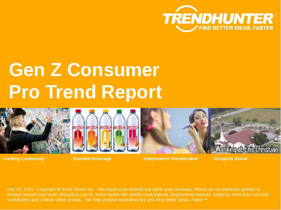 Gen Z Consumer Trend Report Research