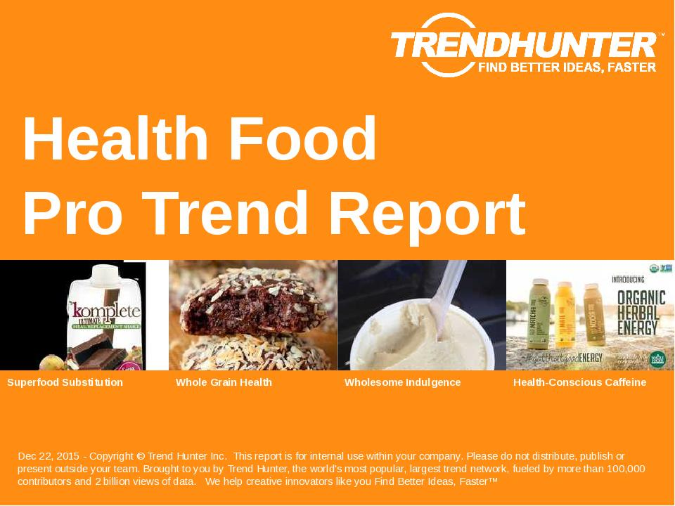 Health Food Trend Report Research