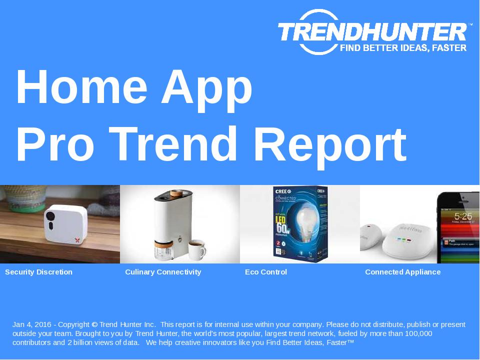 Home App Trend Report Research