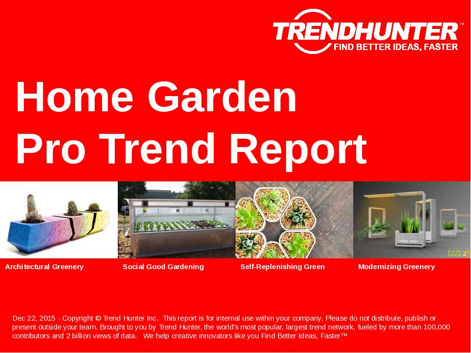 Home Garden Trend Report Research