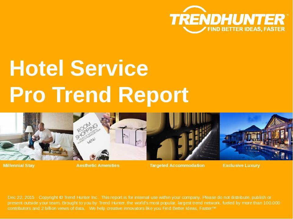 Hotel Service Trend Report Research