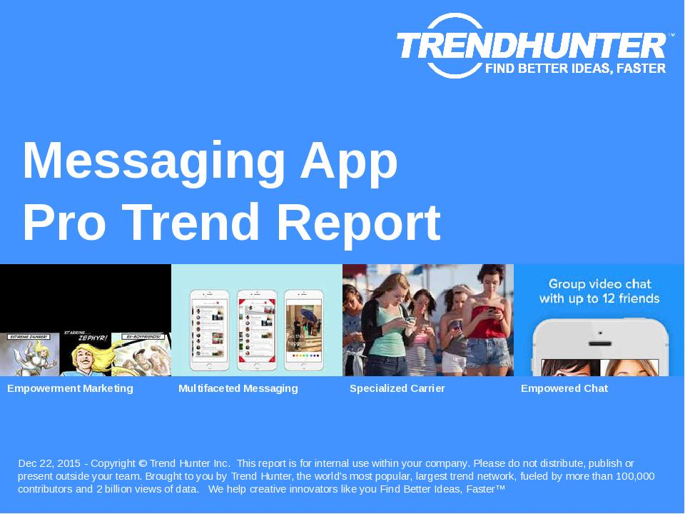 Messaging App Trend Report Research