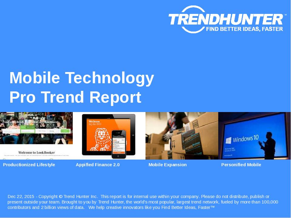 Mobile Technology Trend Report Research