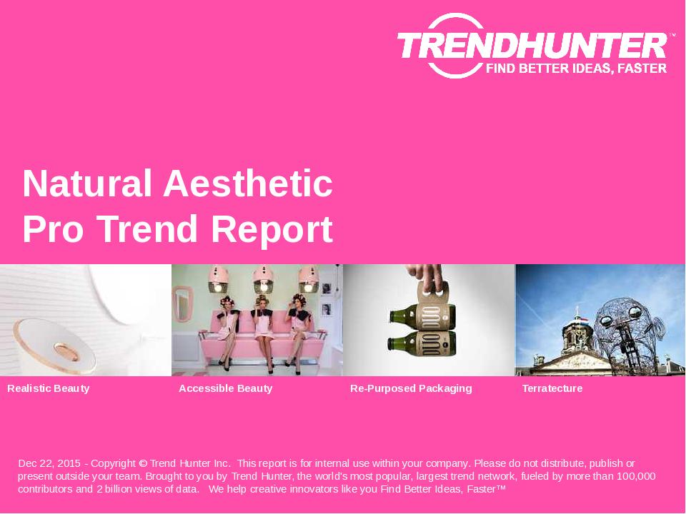Natural Aesthetic Trend Report Research