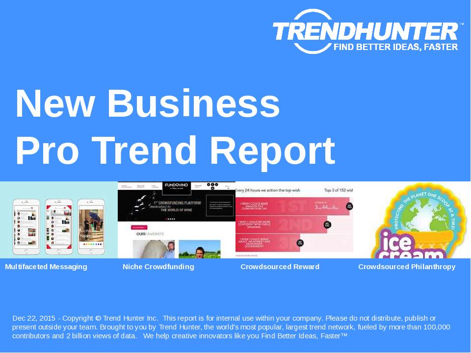 New Business Trend Report Research