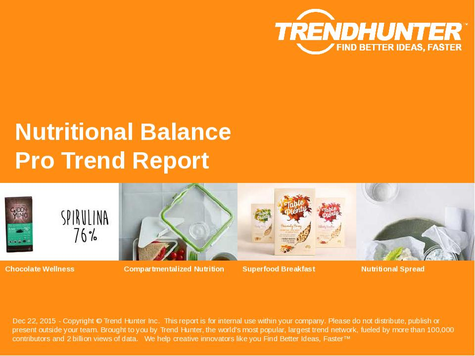 Nutritional Balance Trend Report Research
