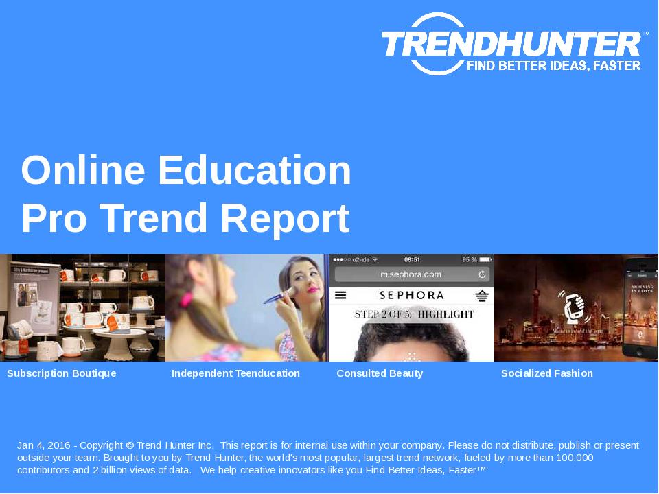 Online Education Trend Report Research