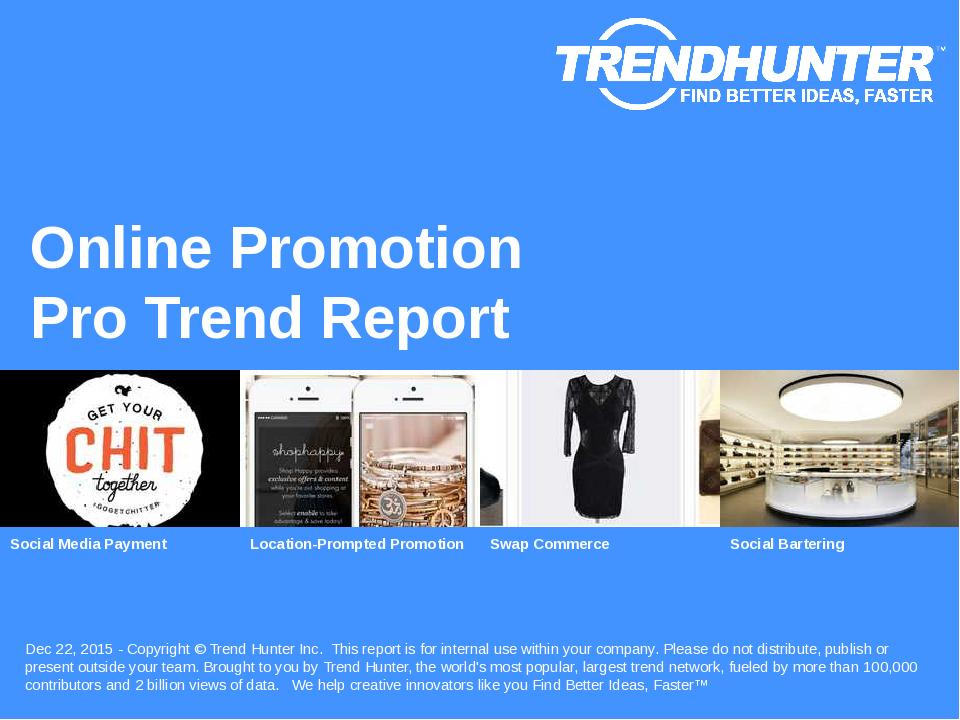 Online Promotion Trend Report Research