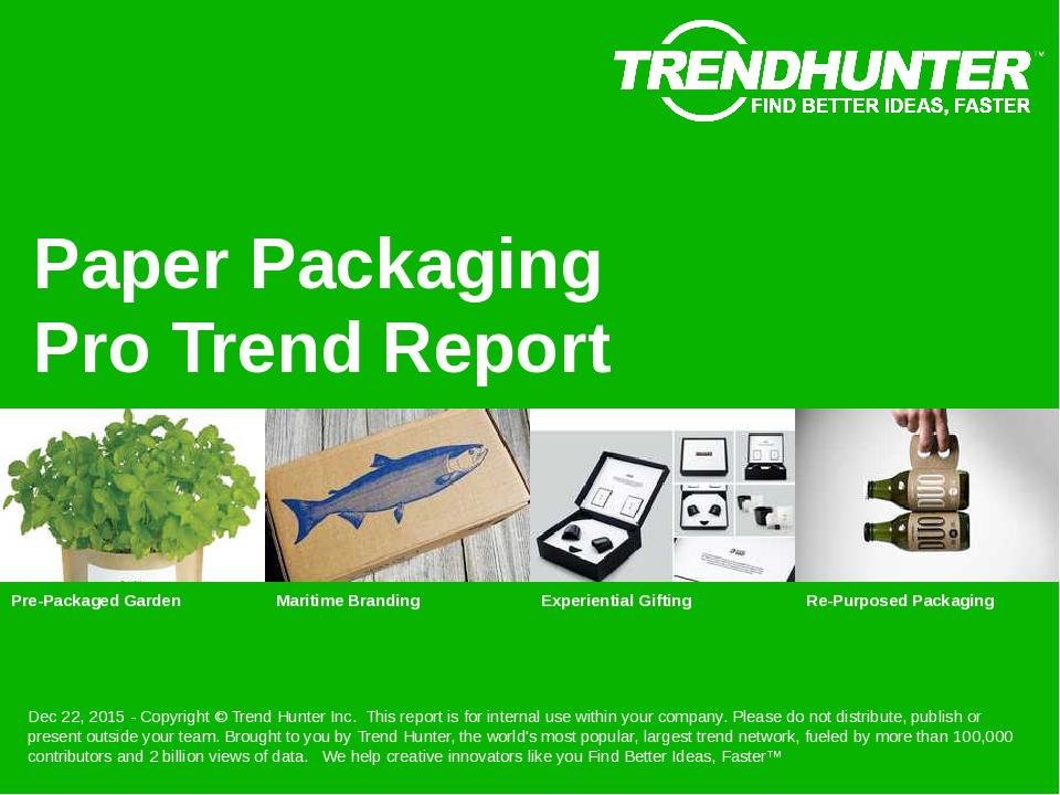 Paper Packaging Trend Report Research