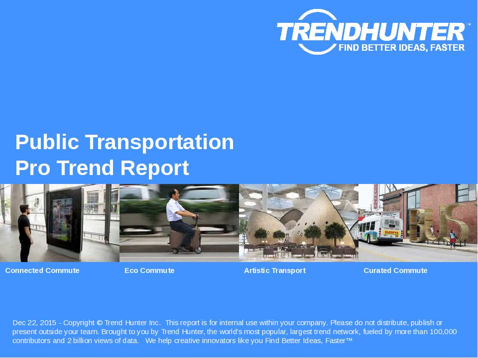 Public Transportation Trend Report Research