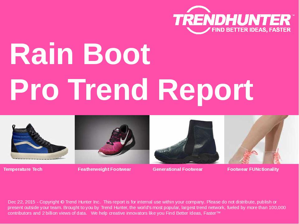 Rain Boot Trend Report Research