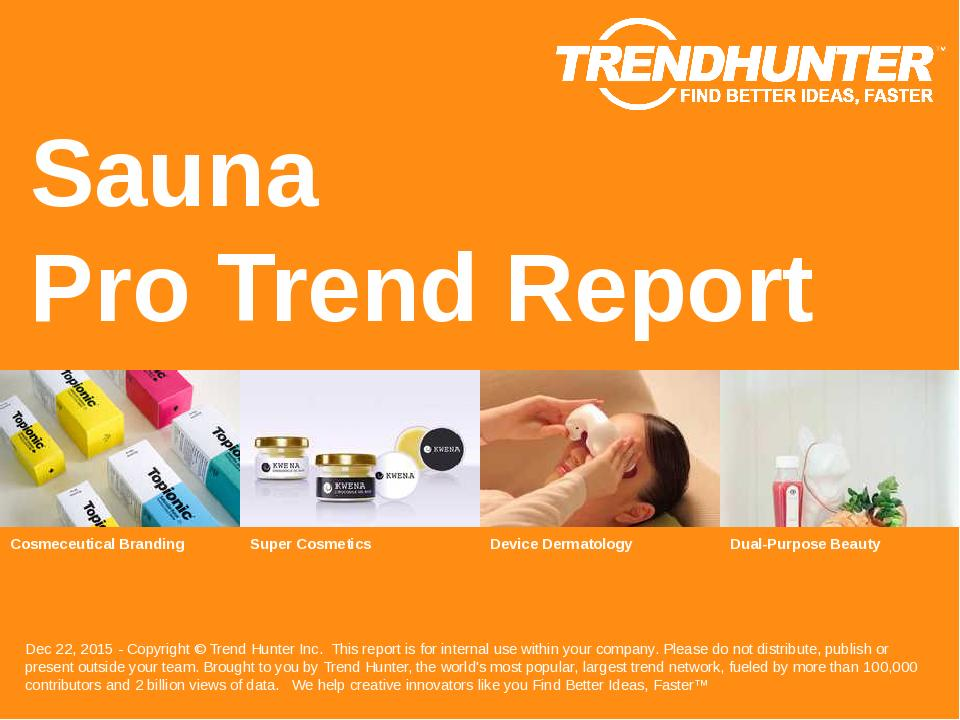 Sauna Trend Report Research