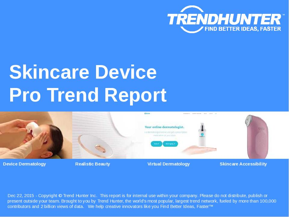 Skincare Device Trend Report Research