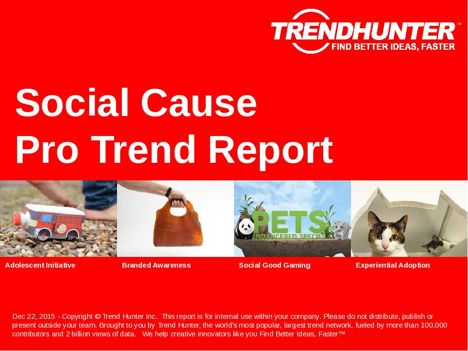 Social Cause Trend Report Research