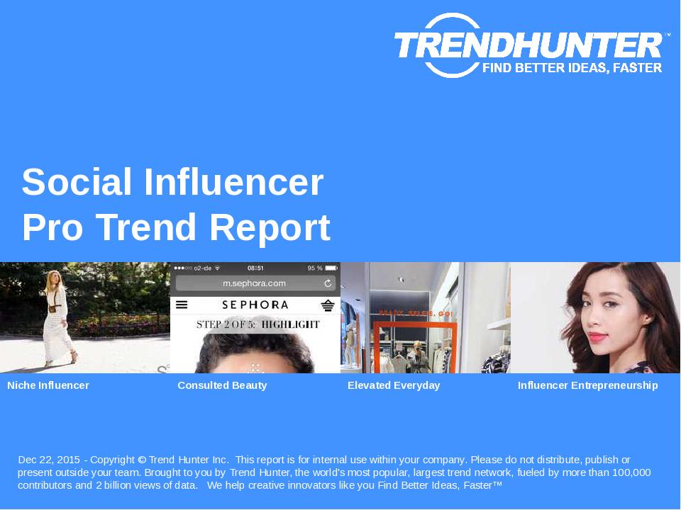 Social Influencer Trend Report Research
