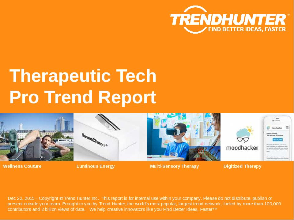 Therapeutic Tech Trend Report Research