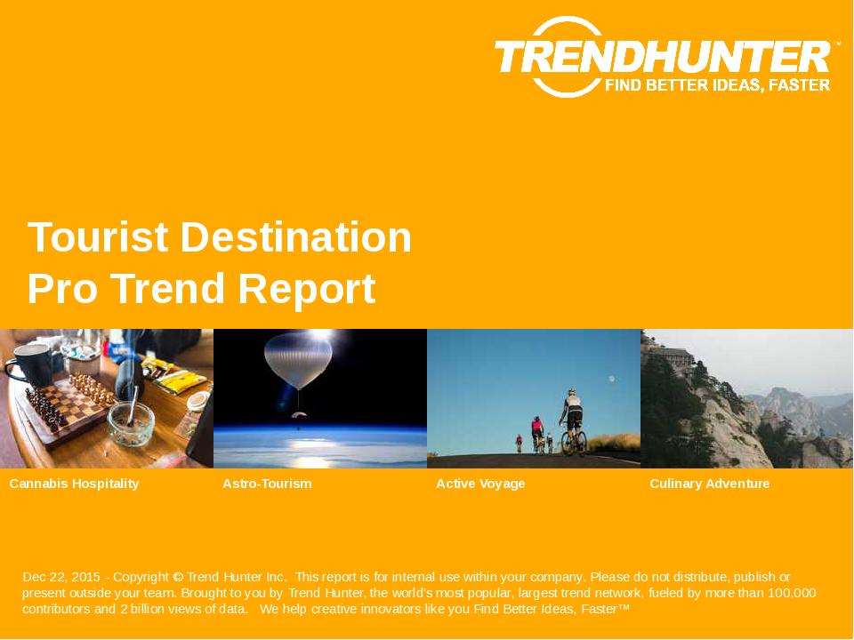 Tourist Destination Trend Report Research
