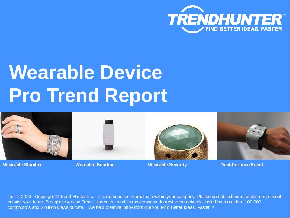 Wearable Device Trend Report Research
