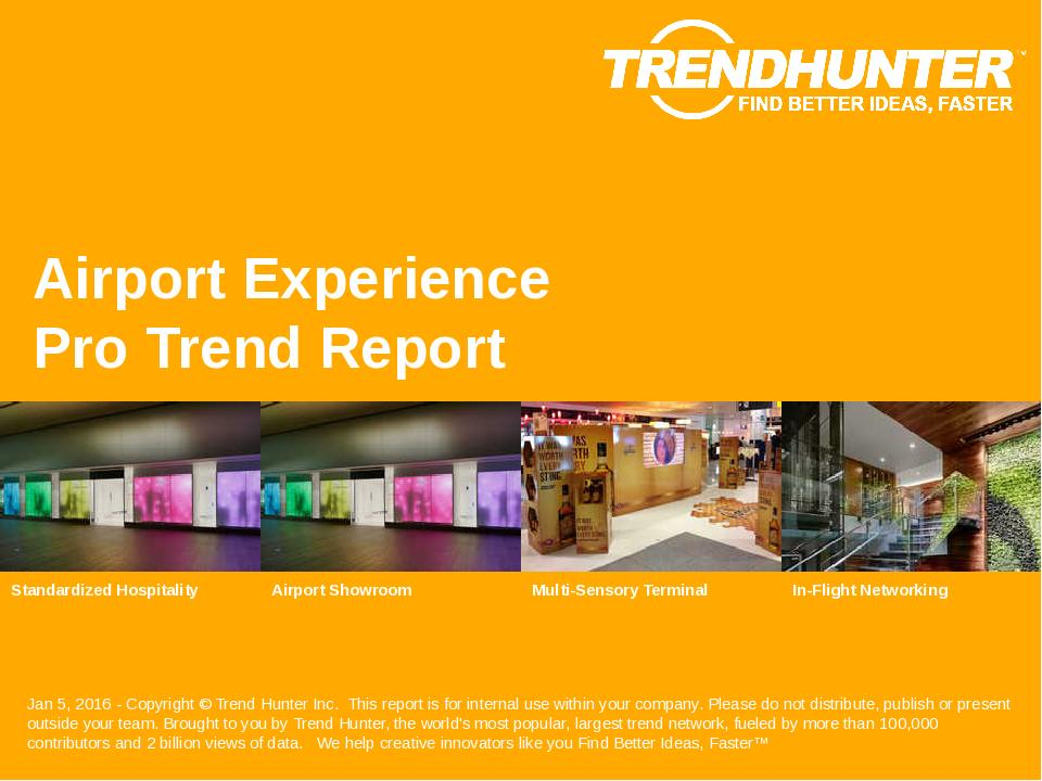 Airport Experience Trend Report Research