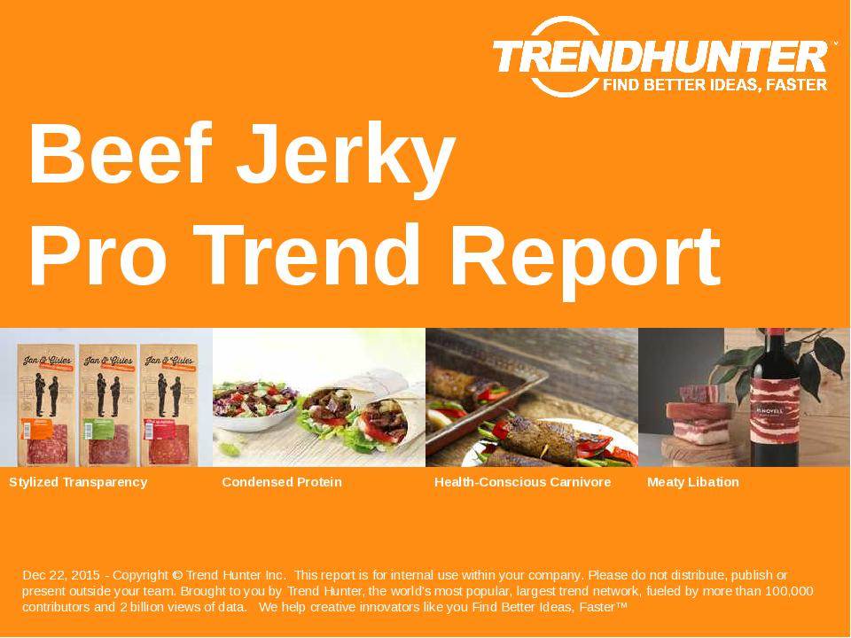 Beef Jerky Trend Report Research