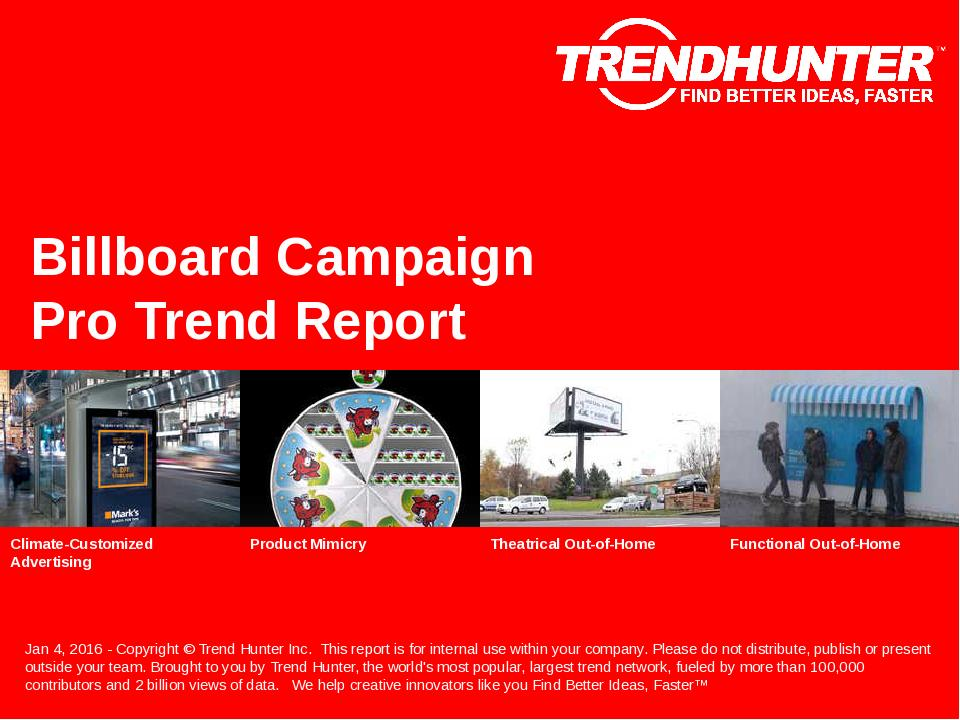 Billboard Campaign Trend Report Research