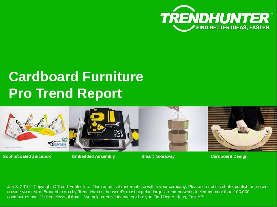 Cardboard Furniture Trend Report Research