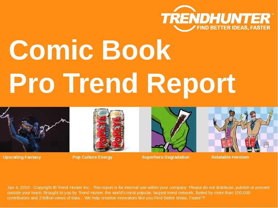 Comic Book Trend Report Research