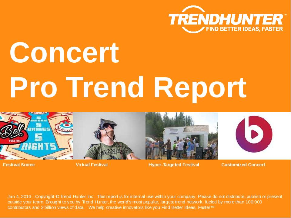 Concert Trend Report Research