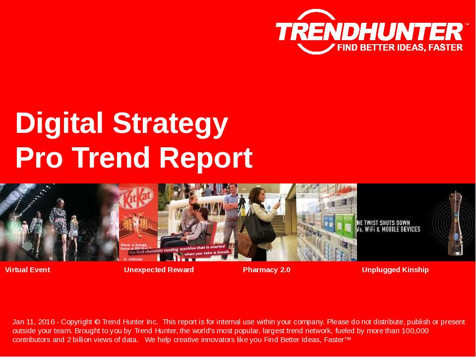 Digital Strategy Trend Report Research