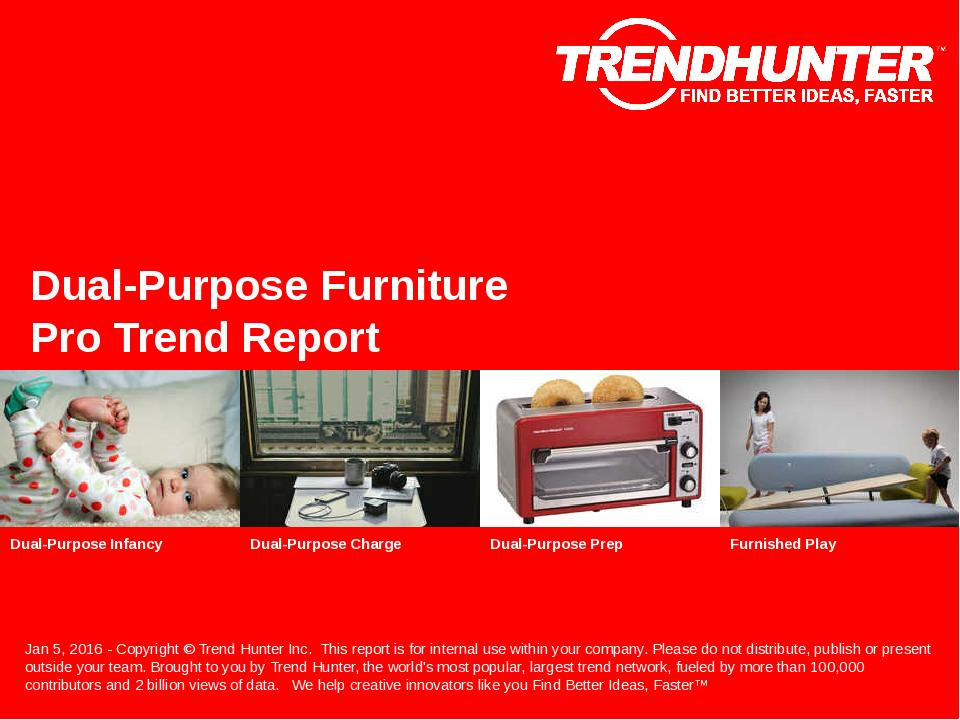 Dual-Purpose Furniture Trend Report Research