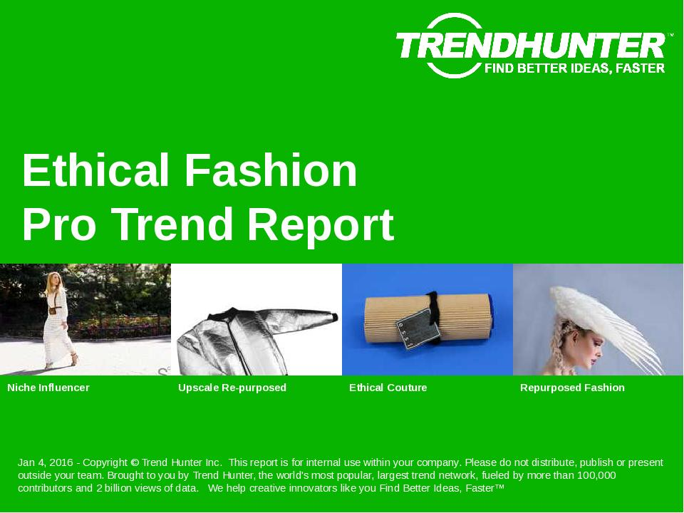 Ethical Fashion Trend Report Research