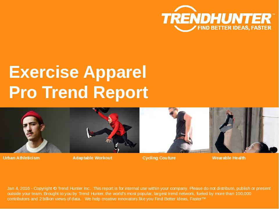 Exercise Apparel Trend Report Research