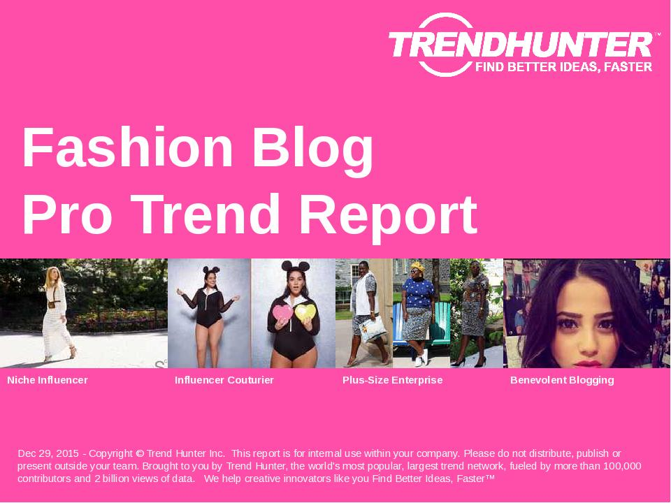 Fashion Blog Trend Report Research