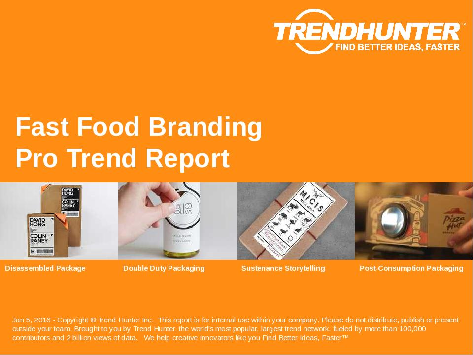 Fast Food Branding Trend Report Research