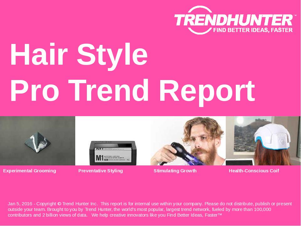 Hair Style Trend Report Research