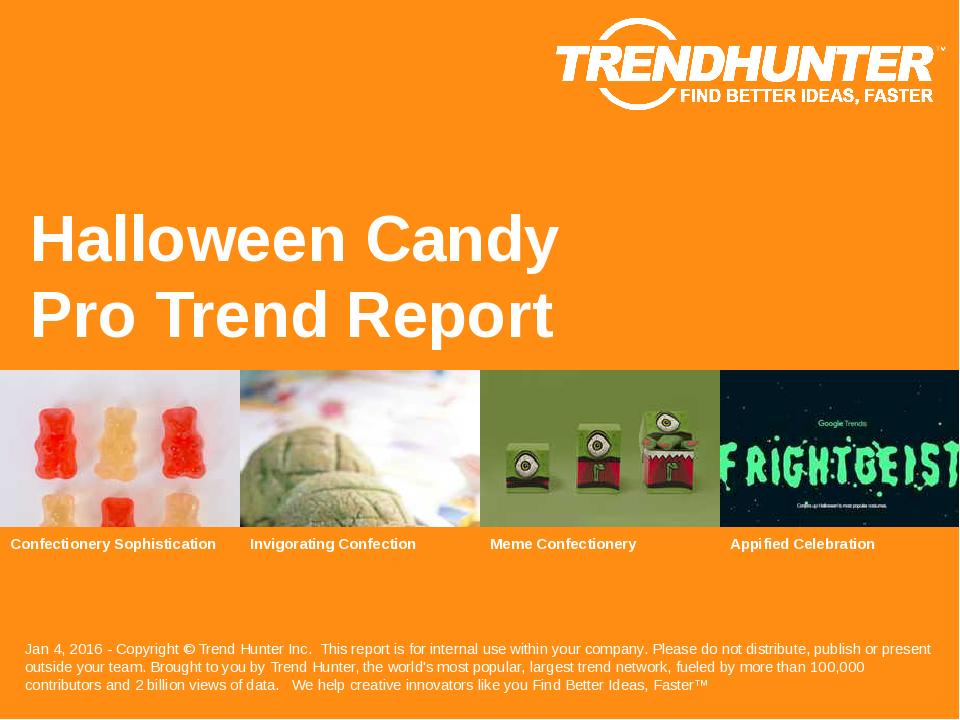 Halloween Candy Trend Report Research