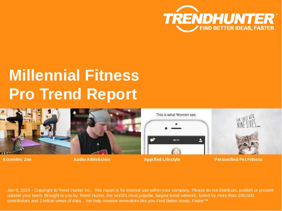 Millennial Fitness Trend Report Research