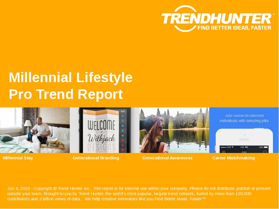 Millennial Lifestyle Trend Report Research