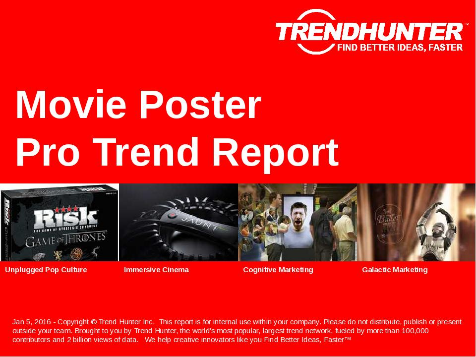 Movie Poster Trend Report Research