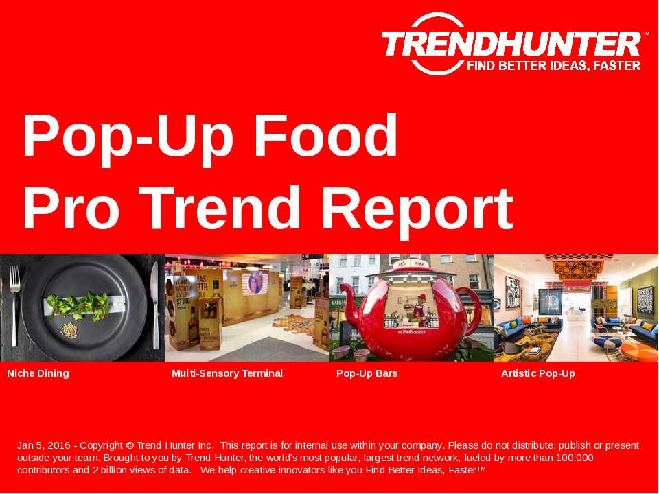 Pop-Up Food Trend Report Research