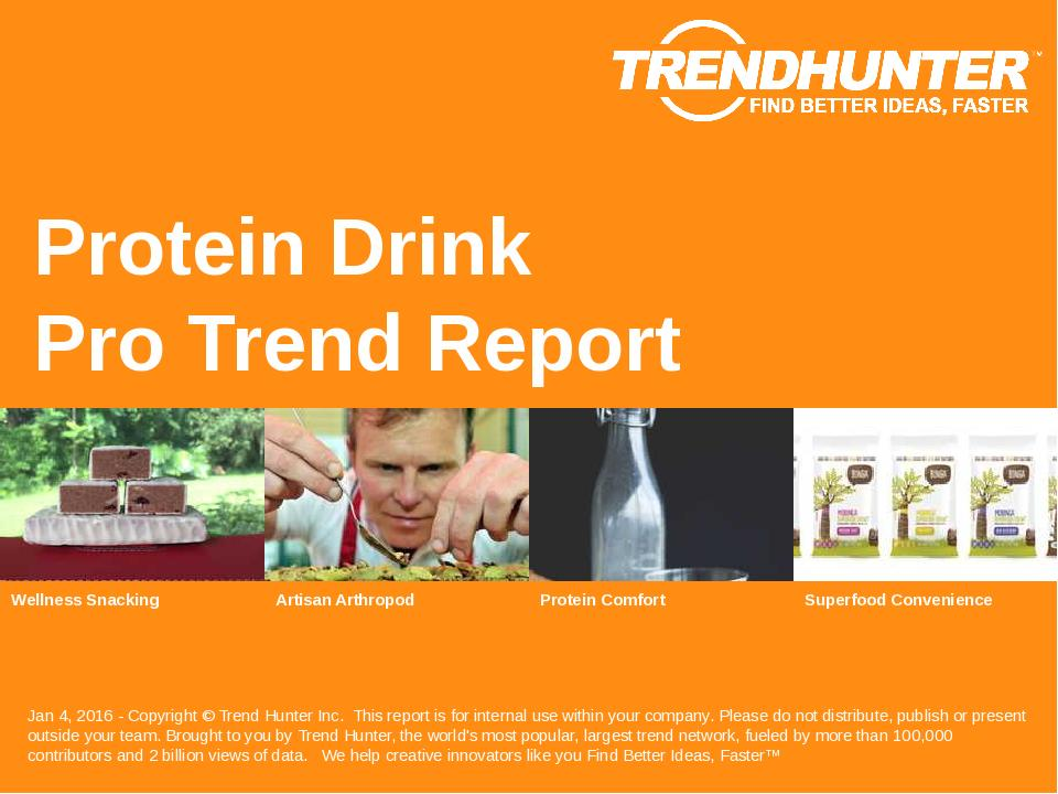 Protein Drink Trend Report Research