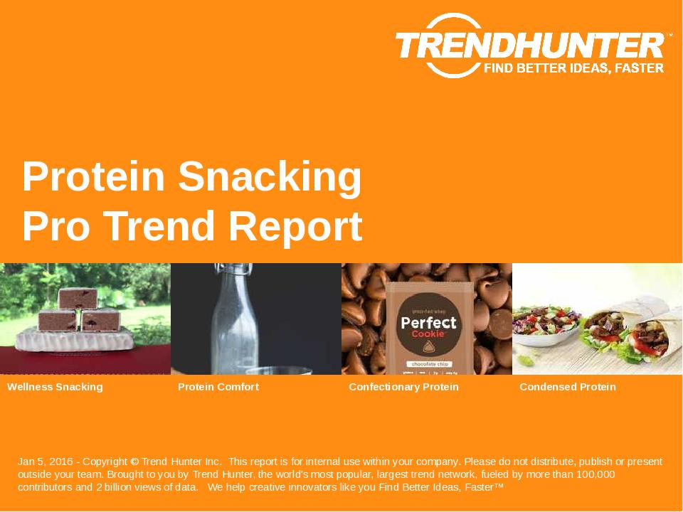 Protein Snacking Trend Report Research