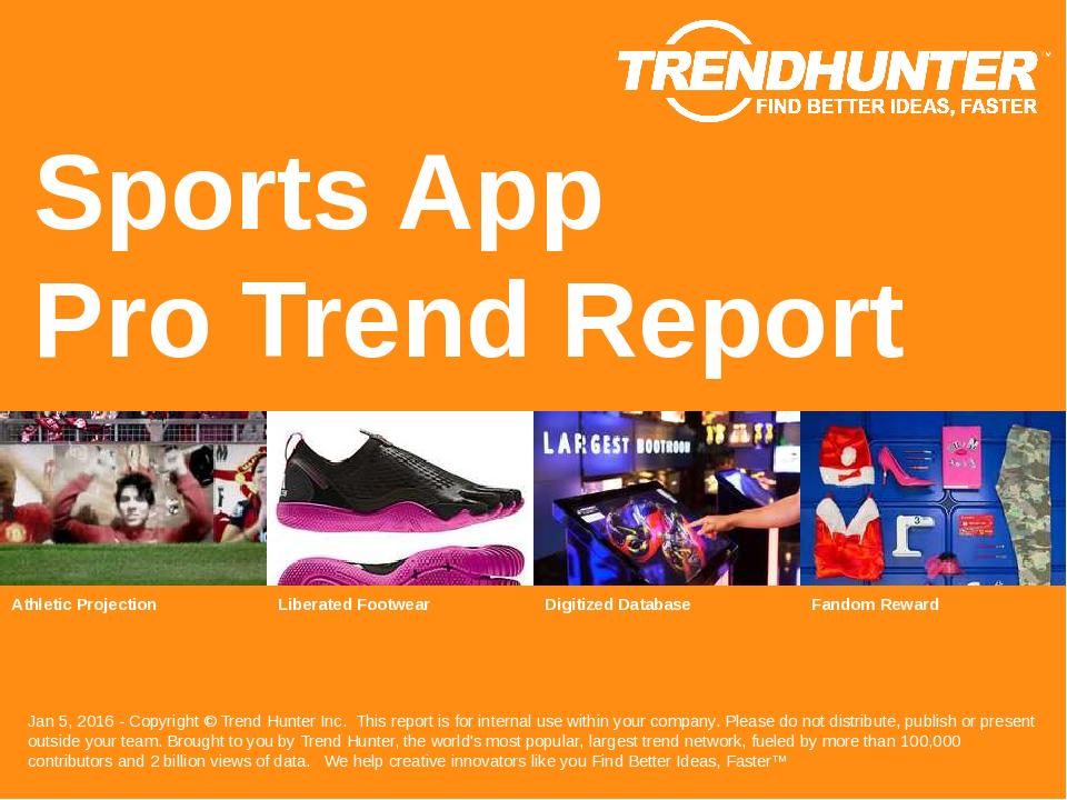Sports App Trend Report Research