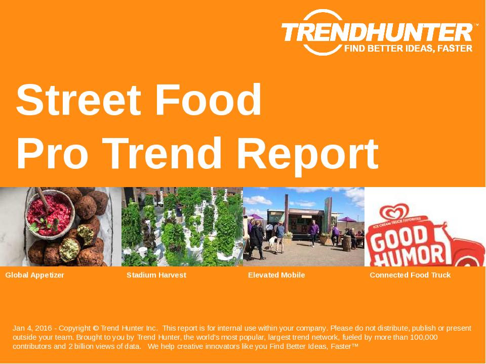 Street Food Trend Report Research
