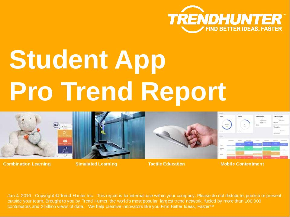 Student App Trend Report Research