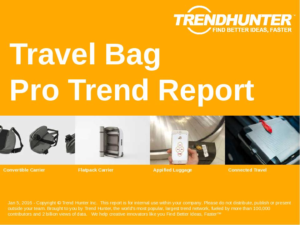 Travel Bag Trend Report Research