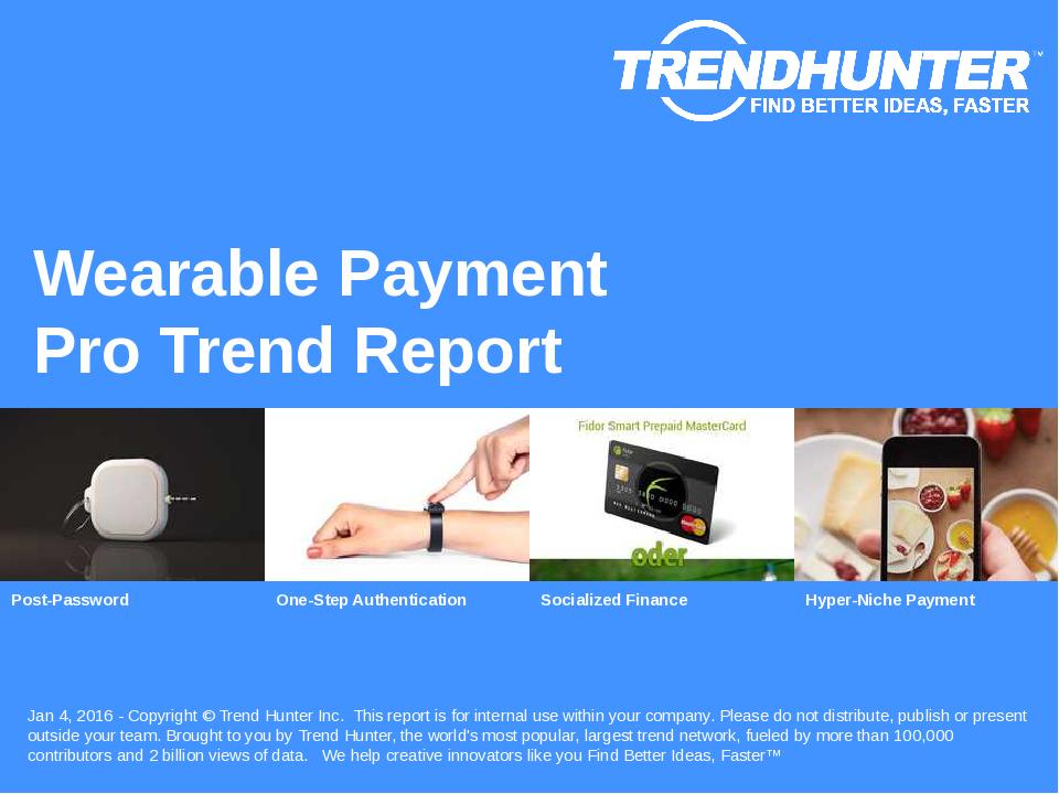 Wearable Payment Trend Report Research