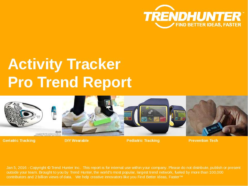 Activity Tracker Trend Report Research